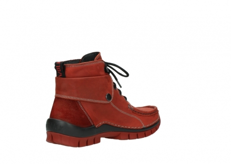 wolky bottines a lacets 04725 jump winter 50540 cuir rouge hiver_10