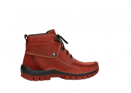 wolky bottines a lacets 04725 jump winter 50540 cuir rouge hiver_12