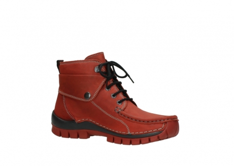 wolky bottines a lacets 04725 jump winter 50540 cuir rouge hiver_15