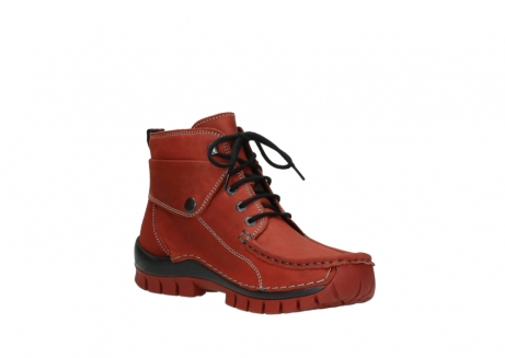 wolky bottines a lacets 04725 jump winter 50540 cuir rouge hiver_16