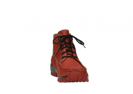 wolky lace up boots 04725 jump winter 50540 winter red oiled leather_18