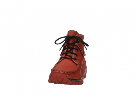 wolky bottines a lacets 04725 jump winter 50540 cuir rouge hiver_20