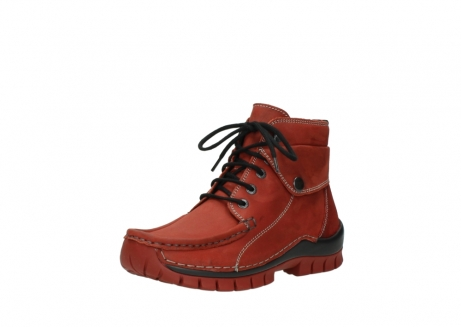 wolky bottines a lacets 04725 jump winter 50540 cuir rouge hiver_22