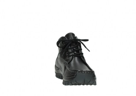 wolky lace up boots 04728 cross winter 30000 black leather_18