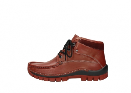 wolky bottines a lacets 04728 cross winter 30540 cuir rouge hiver_1