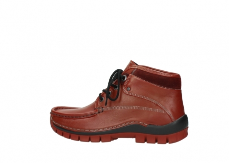wolky bottines a lacets 04728 cross winter 30540 cuir rouge hiver_2