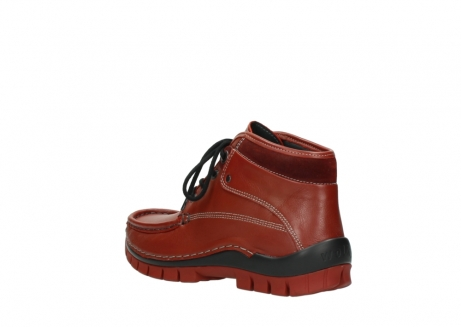 wolky lace up boots 04728 cross winter 30540 winter red leather_4