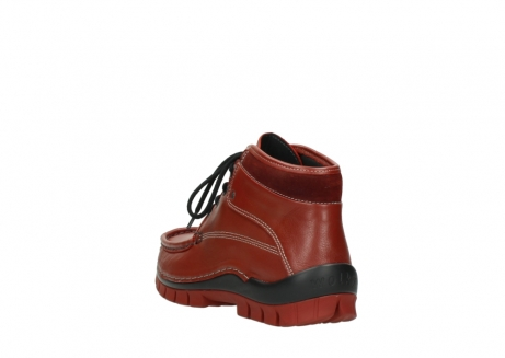wolky bottines a lacets 04728 cross winter 30540 cuir rouge hiver_5