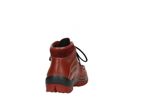 wolky lace up boots 04728 cross winter 30540 winter red leather_8