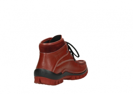 wolky lace up boots 04728 cross winter 30540 winter red leather_9