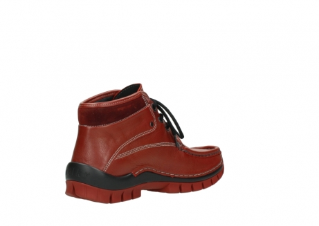wolky bottines a lacets 04728 cross winter 30540 cuir rouge hiver_10