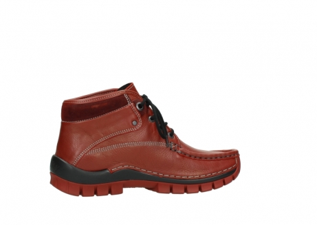 wolky bottines a lacets 04728 cross winter 30540 cuir rouge hiver_12