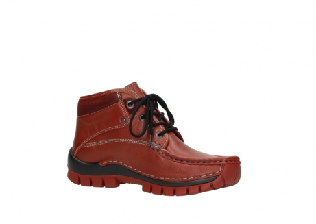 wolky bottines a lacets 04728 cross winter 30540 cuir rouge hiver_15