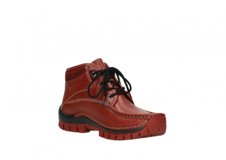 wolky bottines a lacets 04728 cross winter 30540 cuir rouge hiver_16