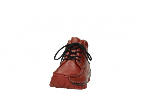 wolky bottines a lacets 04728 cross winter 30540 cuir rouge hiver_20