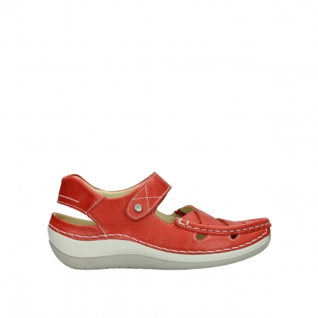 wolky sandalen 04801 venture 30570 red leather