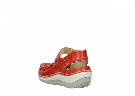 wolky sandalen 04801 venture 30570 red leather_5