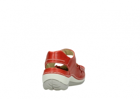 wolky sandalen 04801 venture 30570 red leather_8