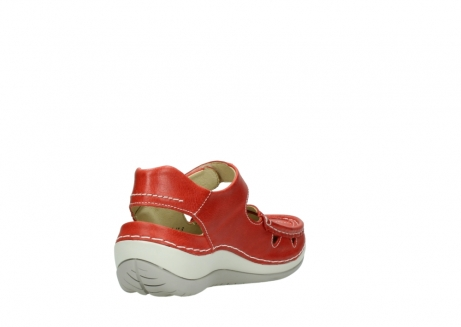 wolky sandalen 04801 venture 30570 red leather_9