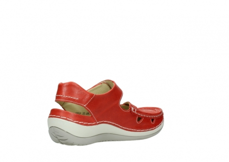 wolky sandalen 04801 venture 30570 red leather_10
