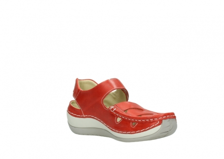 wolky sandalen 04801 venture 30570 red leather_16