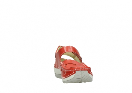 wolky sandalen 04801 venture 30570 red leather_18