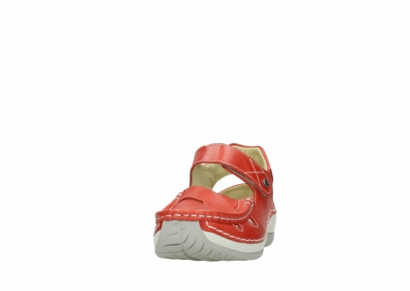 wolky sandalen 04801 venture 30570 red leather_20