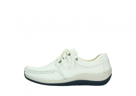 wolky lace up shoes 04805 azura 70108 white leather blue sole_1