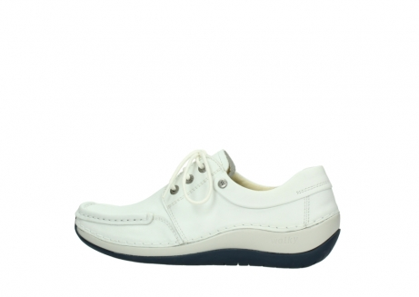 wolky lace up shoes 04805 azura 70108 white leather blue sole_2