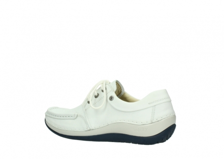 wolky lace up shoes 04805 azura 70108 white leather blue sole_3