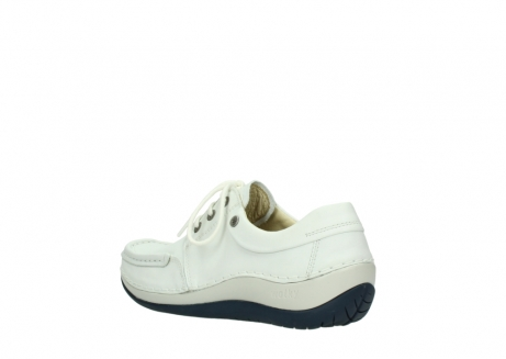 wolky lace up shoes 04805 azura 70108 white leather blue sole_4