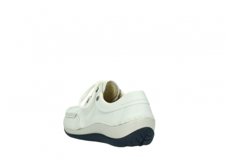 wolky lace up shoes 04805 azura 70108 white leather blue sole_5