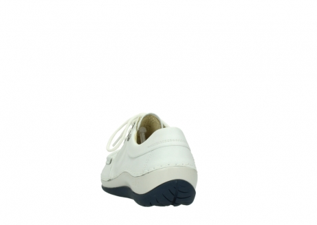 wolky lace up shoes 04805 azura 70108 white leather blue sole_6