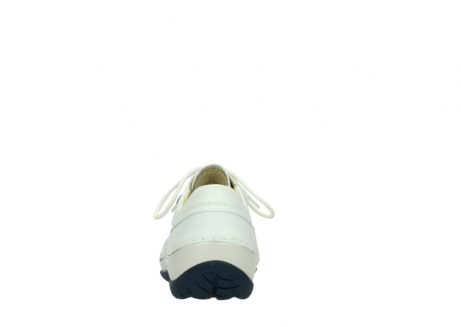 wolky lace up shoes 04805 azura 70108 white leather blue sole_7