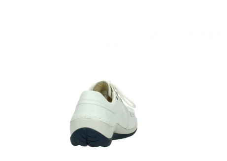 wolky lace up shoes 04805 azura 70108 white leather blue sole_8