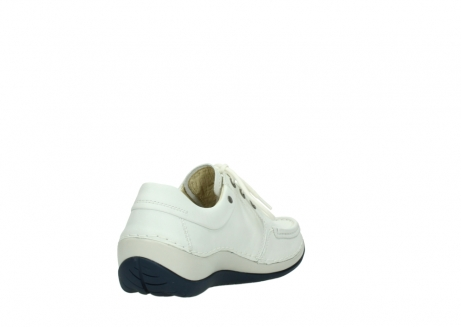 wolky lace up shoes 04805 azura 70108 white leather blue sole_9