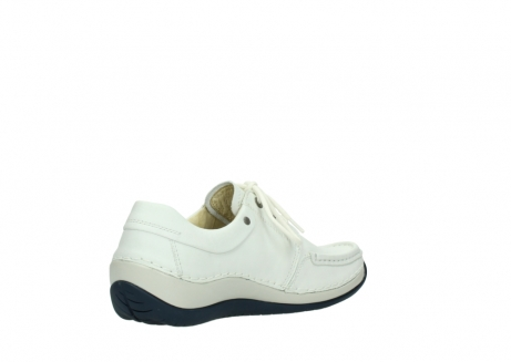 wolky lace up shoes 04805 azura 70108 white leather blue sole_10