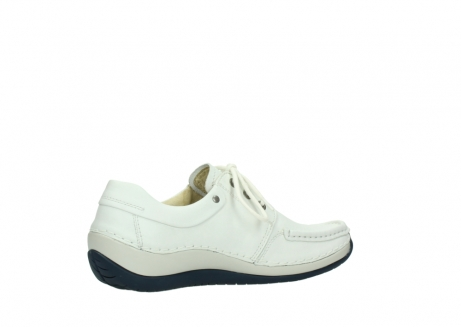 wolky lace up shoes 04805 azura 70108 white leather blue sole_11