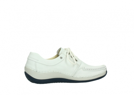 wolky lace up shoes 04805 azura 70108 white leather blue sole_12
