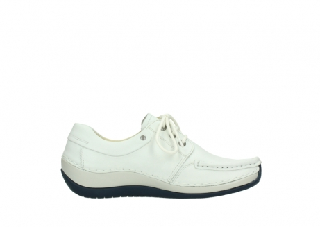 wolky lace up shoes 04805 azura 70108 white leather blue sole_13