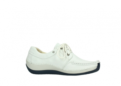 wolky lace up shoes 04805 azura 70108 white leather blue sole_14