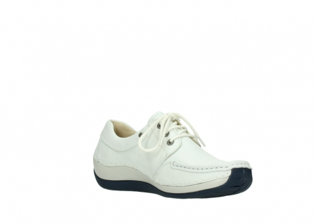 wolky lace up shoes 04805 azura 70108 white leather blue sole_16