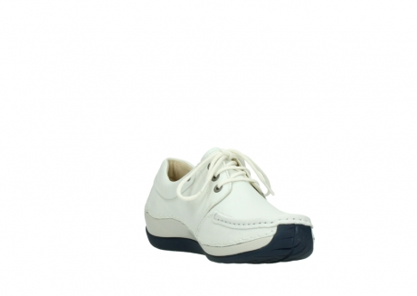 wolky lace up shoes 04805 azura 70108 white leather blue sole_17