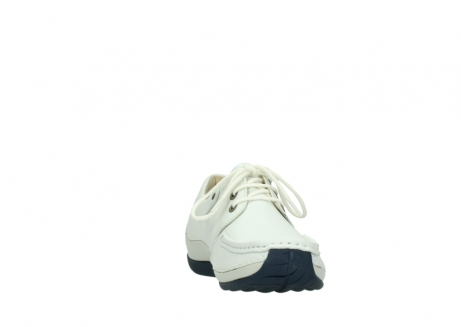 wolky lace up shoes 04805 azura 70108 white leather blue sole_18