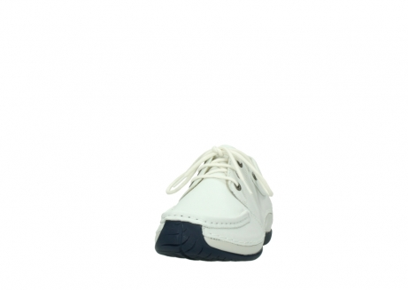 wolky lace up shoes 04805 azura 70108 white leather blue sole_20