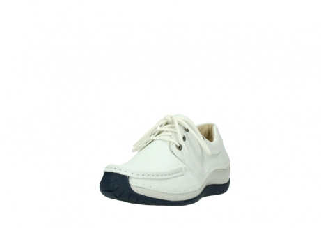 wolky lace up shoes 04805 azura 70108 white leather blue sole_21