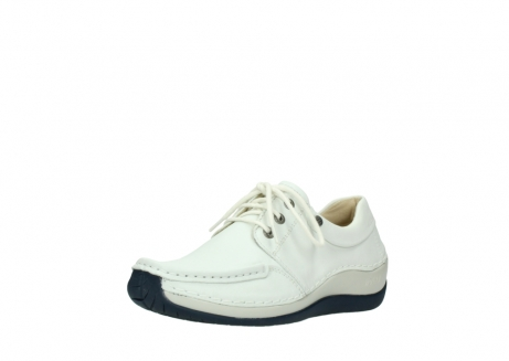 wolky lace up shoes 04805 azura 70108 white leather blue sole_22