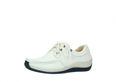 wolky lace up shoes 04805 azura 70108 white leather blue sole_23