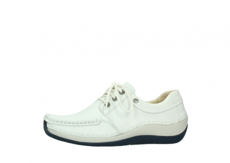 wolky lace up shoes 04805 azura 70108 white leather blue sole_24