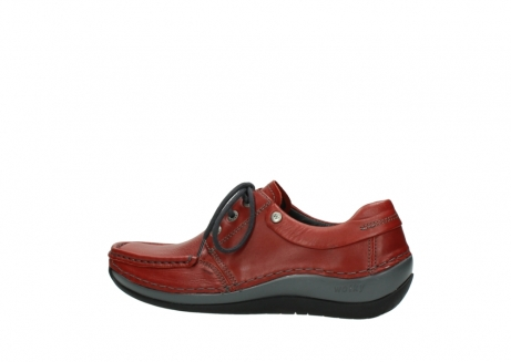 wolky lace up shoes 04825 coral winter 30541 winter red leather_2